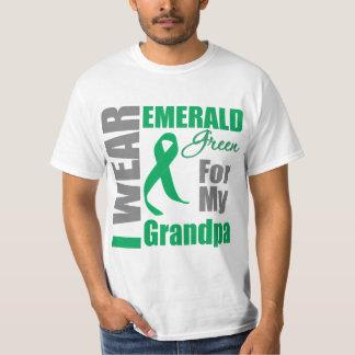 Liver Cancer I Wear Emerald Green Grandpa Shirt