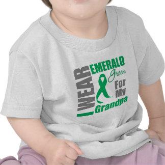 Liver Cancer I Wear Emerald Green Grandpa Tee Shirt