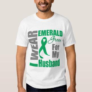 Liver Cancer I Wear Emerald Green Husband Shirt