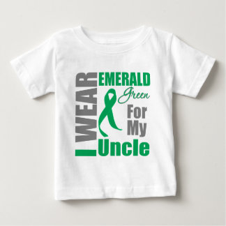 Liver Cancer I Wear Emerald Green Uncle Baby T-Shirt