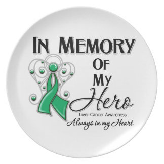 Liver Cancer In Memory of My Hero Party Plate
