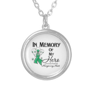 Liver Cancer In Memory of My Hero Round Pendant Necklace