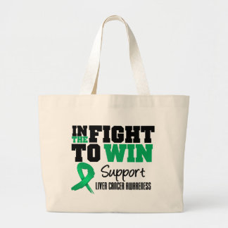 Liver Cancer In The Fight To Win Canvas Bags