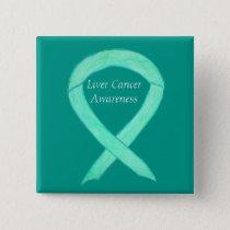 Liver Cancer Jade Awareness Ribbon Art Pin