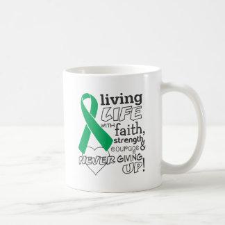 Liver Cancer Living Life With Faith Classic White Coffee Mug