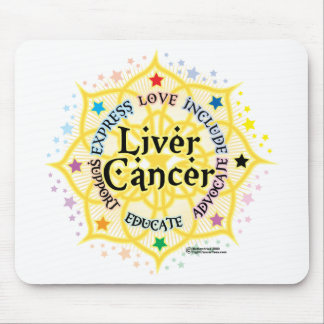 Liver Cancer Lotus Mouse Pad