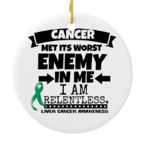 Liver Cancer Met Its Worst Enemy in Me Ceramic Ornament