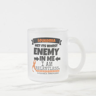 Liver Cancer Met Its Worst Enemy in Me Frosted Glass Coffee Mug