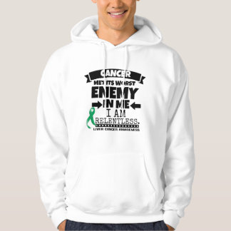 Liver Cancer Met Its Worst Enemy in Me Hooded Pullover