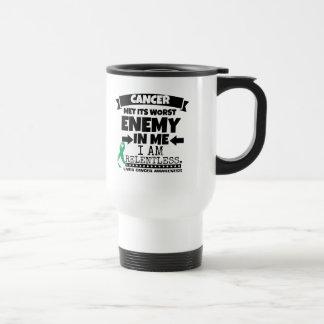 Liver Cancer Met Its Worst Enemy in Me Travel Mug