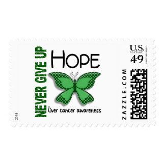 Liver Cancer Never Give Up Hope Butterfly 4.1 Postage Stamp
