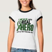 Liver Cancer NEVER KNEW A HERO 2 Aunt T-Shirt