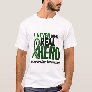 Liver Cancer NEVER KNEW A HERO 2 Brother T-Shirt