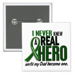 Liver Cancer NEVER KNEW A HERO 2 Dad Buttons