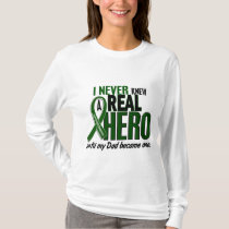 Liver Cancer NEVER KNEW A HERO 2 Dad T-Shirt