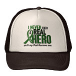 Liver Cancer NEVER KNEW A HERO 2 Dad Trucker Hat