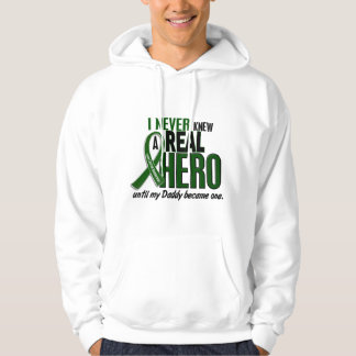 Liver Cancer NEVER KNEW A HERO 2 Daddy Hooded Sweatshirt