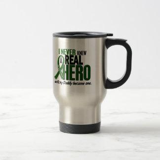 Liver Cancer NEVER KNEW A HERO 2 Daddy Travel Mug