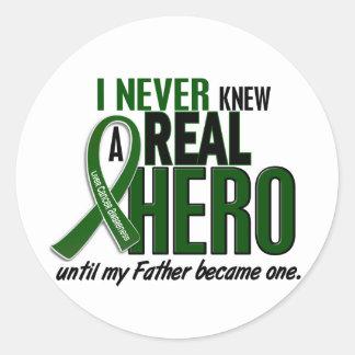 Liver Cancer NEVER KNEW A HERO 2 Father Classic Round Sticker