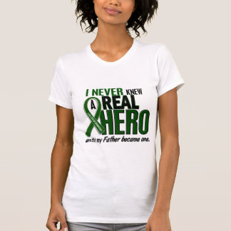 Liver Cancer NEVER KNEW A HERO 2 Father Tee Shirt