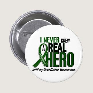 Liver Cancer NEVER KNEW A HERO 2 Grandfather Button