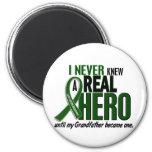 Liver Cancer NEVER KNEW A HERO 2 Grandfather Fridge Magnet