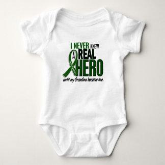 Liver Cancer NEVER KNEW A HERO 2 Grandma Baby Bodysuit