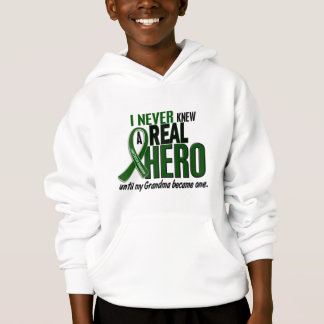 Liver Cancer NEVER KNEW A HERO 2 Grandma Hoodie
