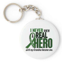 Liver Cancer NEVER KNEW A HERO 2 Grandma Keychain
