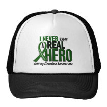 Liver Cancer NEVER KNEW A HERO 2 Grandma Trucker Hat