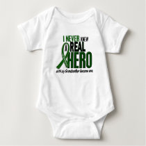 Liver Cancer NEVER KNEW A HERO 2 Grandmother Baby Bodysuit