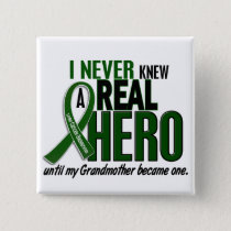 Liver Cancer NEVER KNEW A HERO 2 Grandmother Pinback Button