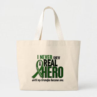 Liver Cancer NEVER KNEW A HERO 2 Grandpa Large Tote Bag