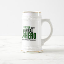 Liver Cancer NEVER KNEW A HERO 2 Husband Beer Stein