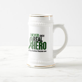 Liver Cancer NEVER KNEW A HERO 2 Husband Beer Stein