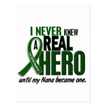 Liver Cancer NEVER KNEW A HERO 2 Nana Postcard