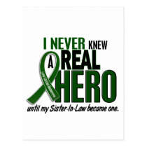 Liver Cancer NEVER KNEW A HERO 2 Sister-In-Law Postcard