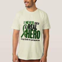 Liver Cancer NEVER KNEW A HERO 2 Sister-In-Law T-Shirt