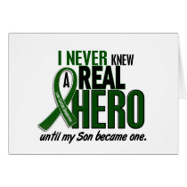 Liver Cancer NEVER KNEW A HERO 2 Son Card