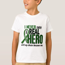 Liver Cancer NEVER KNEW A HERO 2 Uncle T-Shirt