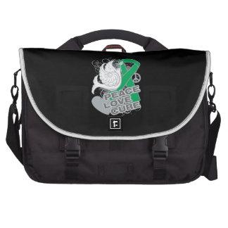 Liver Cancer Peace Love Cure Laptop Commuter Bag