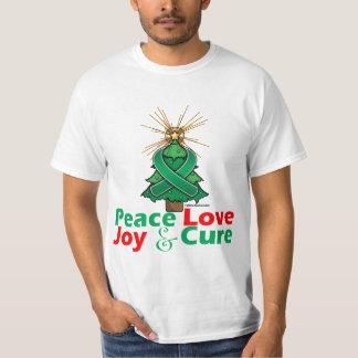 Liver Cancer Peace Love Joy Cure T Shirts
