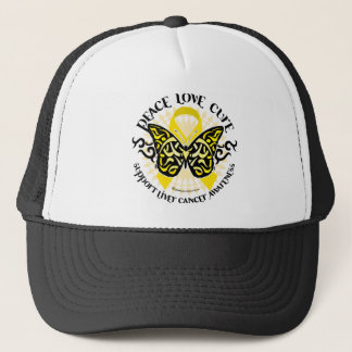 Liver Cancer PLC Butterfly Tribal Trucker Hat