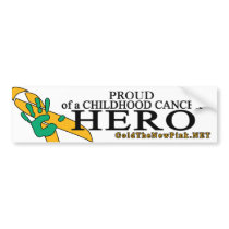 "Liver Cancer - ""Proud"" Bumper Sticker"