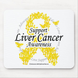 Liver Cancer Ribbon of Butterflies Mouse Pad