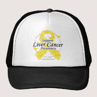 Liver Cancer Ribbon of Butterflies Trucker Hat