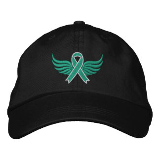 Liver Cancer Ribbon Wings Embroidered Baseball Cap