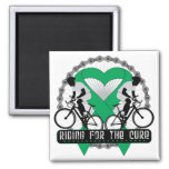 Liver Cancer Riding For The Cure Fridge Magnets