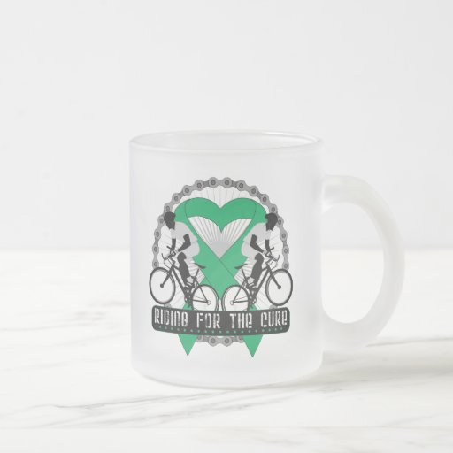 Liver Cancer Riding For The Cure 10 Oz Frosted Glass Coffee Mug