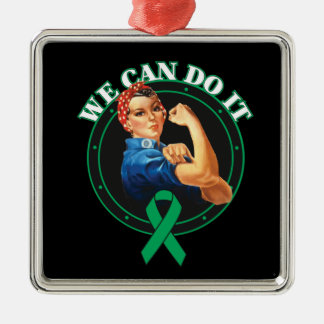 Liver Cancer - Rosie The Riveter - We Can Do It Ornaments